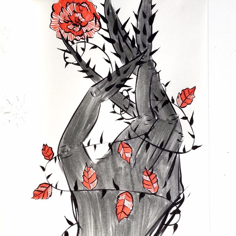 Roses grow disfigured hands wra - borianag   ello