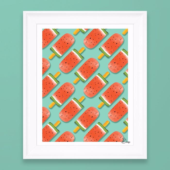 Watermelon Popsicles Pattern Co - designdn | ello