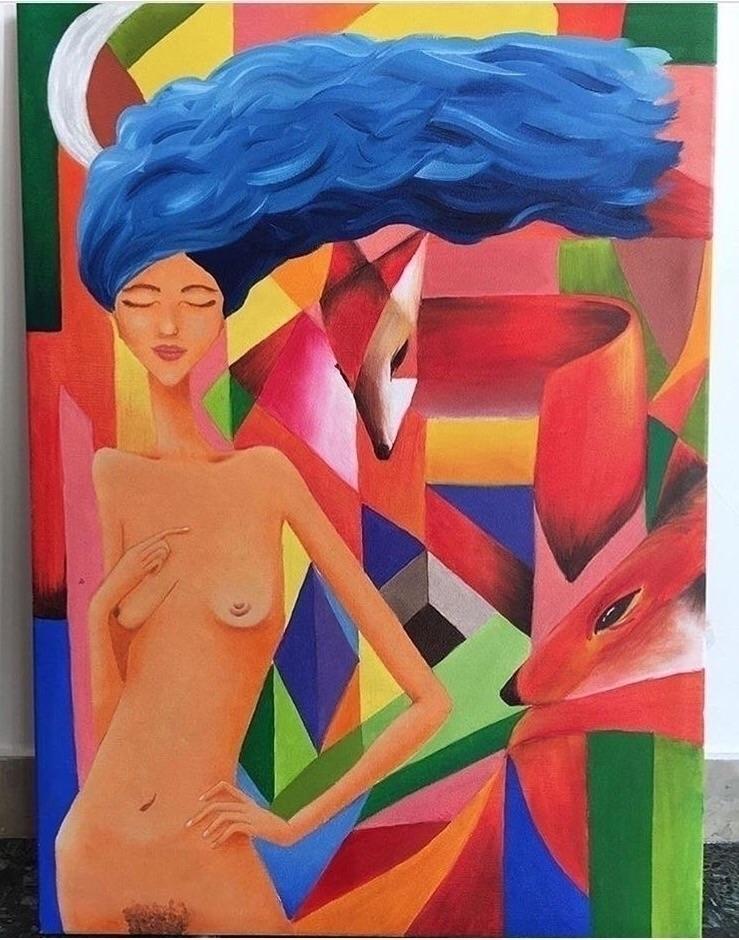 Wild Heart, 2017 oil canvas 50  - gioadriana | ello
