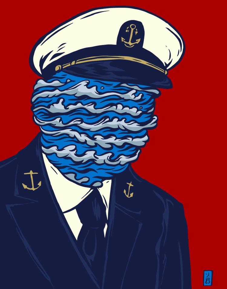 Chief Salty Waves - illustration - thomcat23 | ello