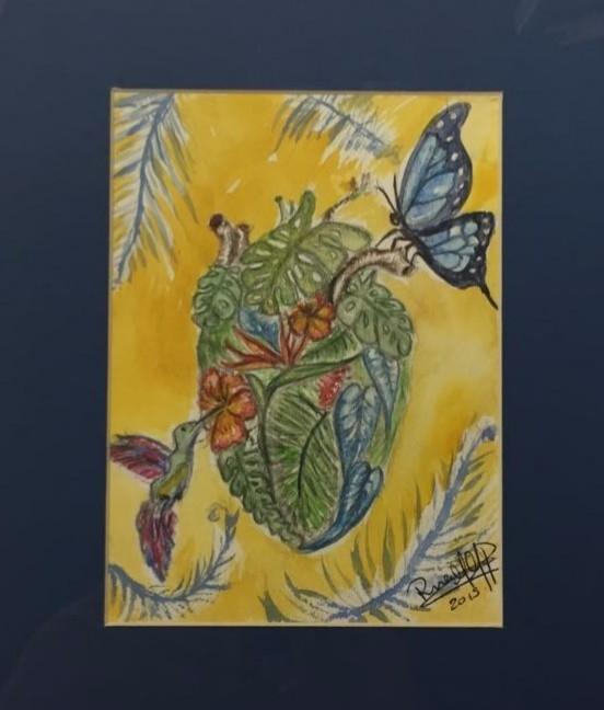 heart wild - watercolor, nature - rinamr | ello