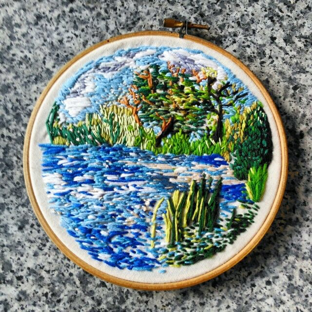 Flowing river Embroidery cotton - bitweirdthat | ello