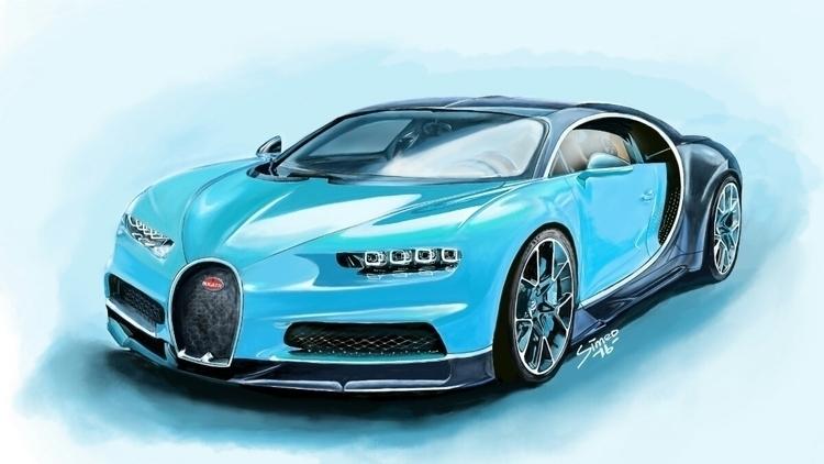 Bugatti drew 2016 drawing year - realsimeoart | ello