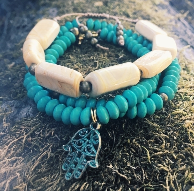 Turquoise Howlite creamy Jasper - gypsyxjewels | ello