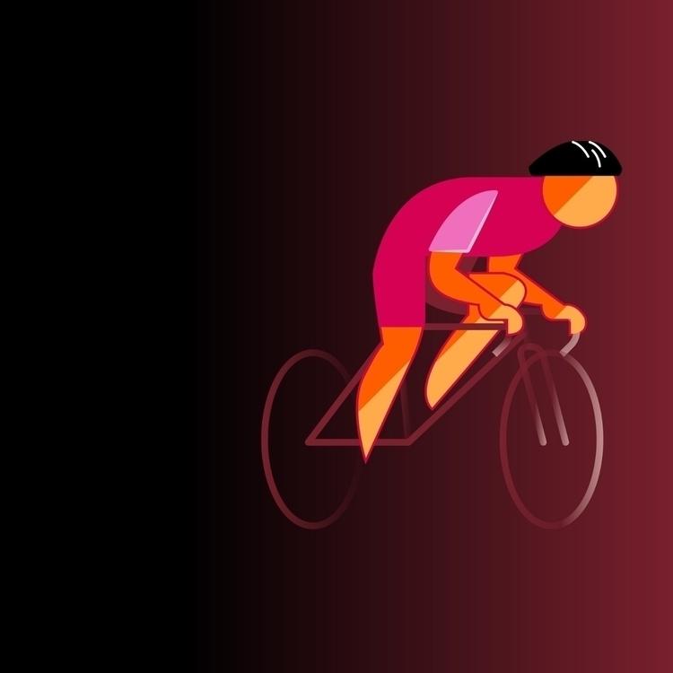 cycling, vectorart, illustration - bentheillustrator   ello