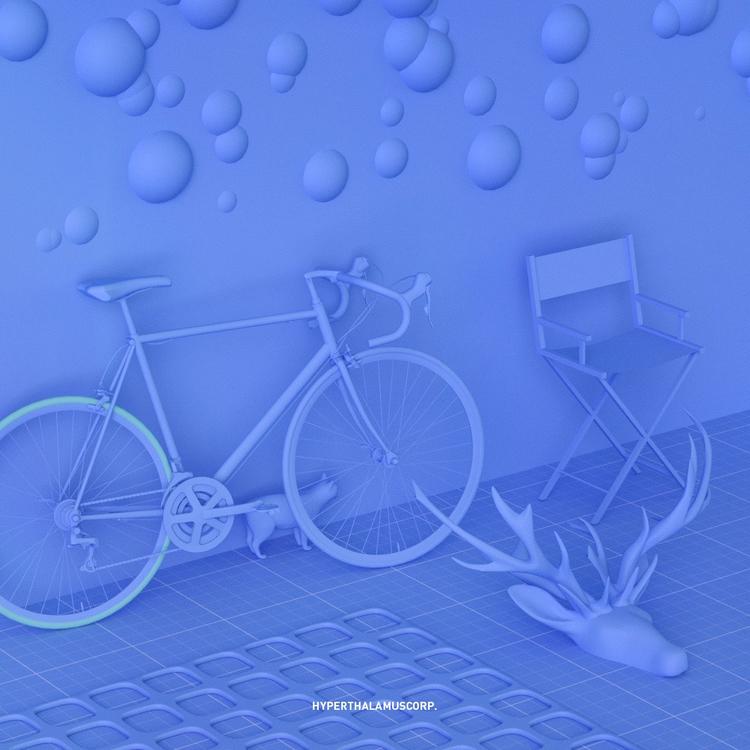 02.08.17 BLUE ROOM - 3d, c4d, cinema4d - conquestofninjacats   ello