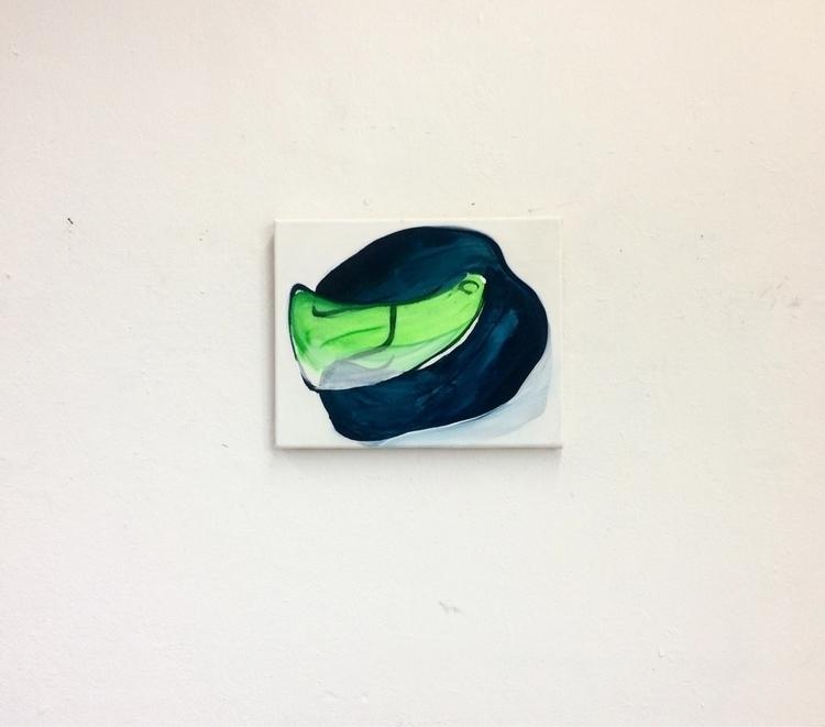Blue helmet, 2017, acrylic spra - julikageissler | ello