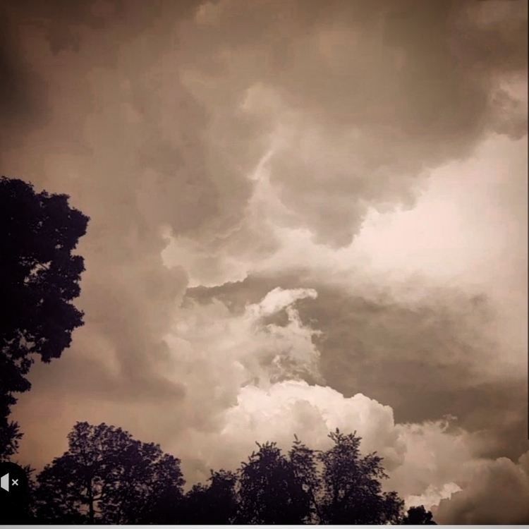 clouds gather thunder rumbles!  - grayvervain | ello