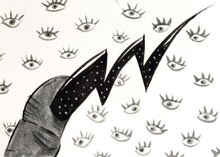 nails - illustration, art, sketch - borianag | ello
