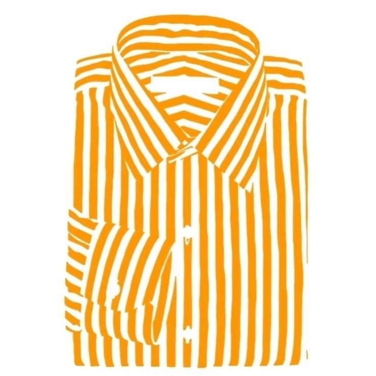 Orange stripes  - orange, shirt - thomasblankschon | ello