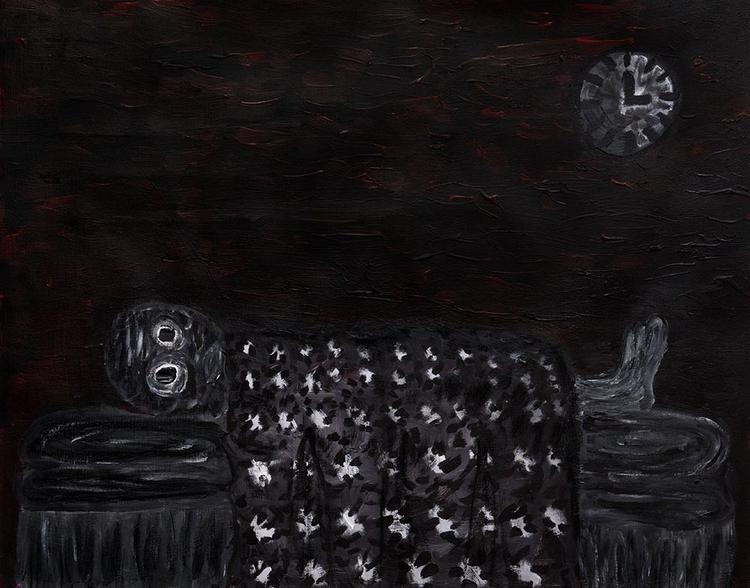 Insomnia! 16X20 acrylic, gesso - zeren | ello