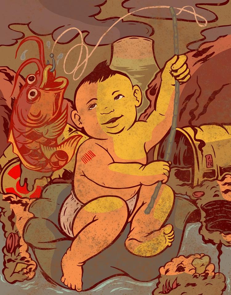 Future Fishing - illustration - thomcat23 | ello
