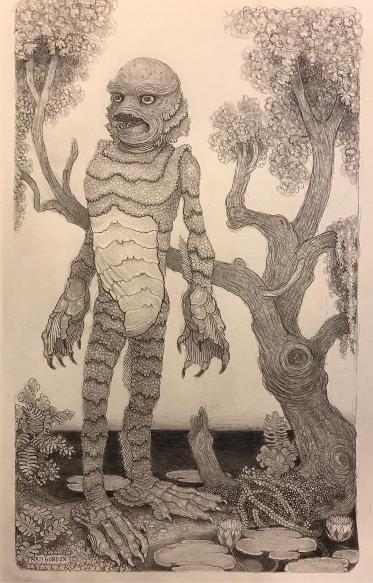 Creature Black Lagoon~ graphite - _mattgordon_   ello