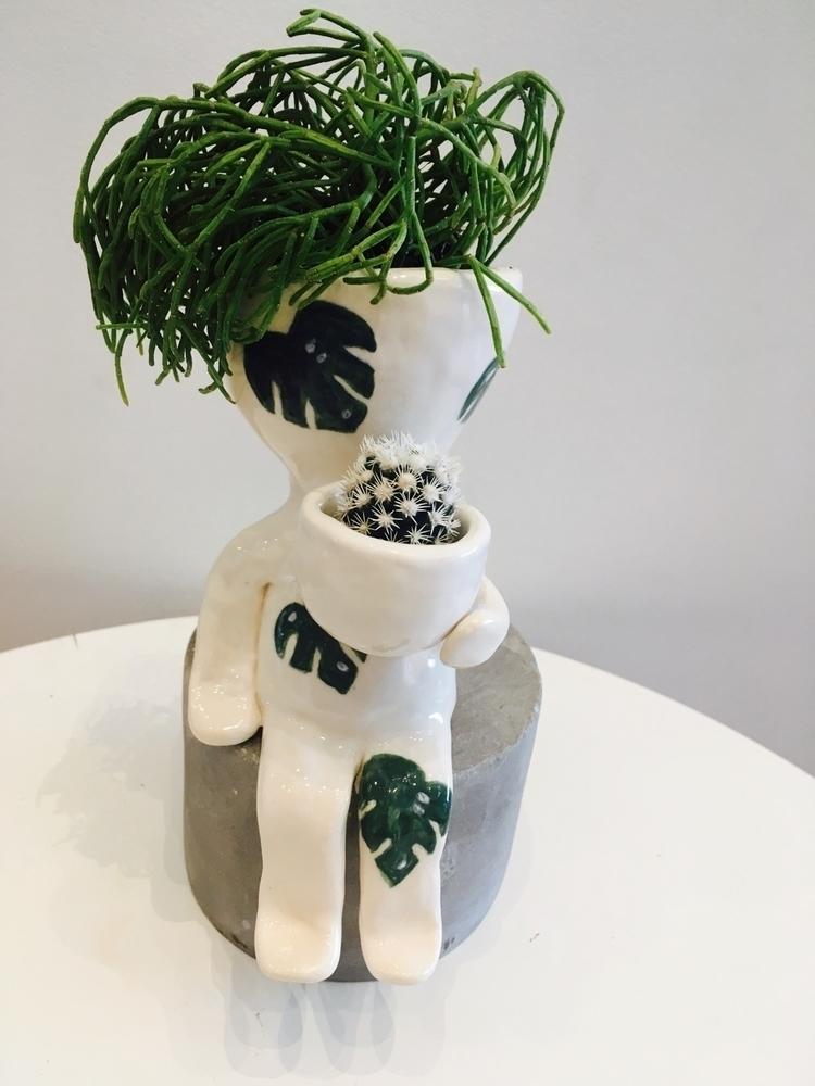 monstera dude planter. pottery - livingdecortwins | ello
