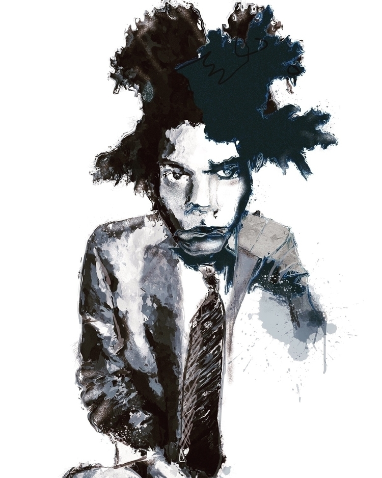 'Basquiat - elloart, illustration - inkycubans | ello