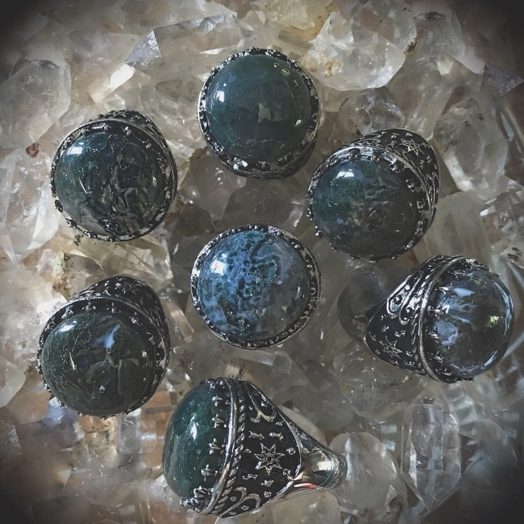 Ambience Rings Moss Agate Today - evil_pawn_jewelry | ello