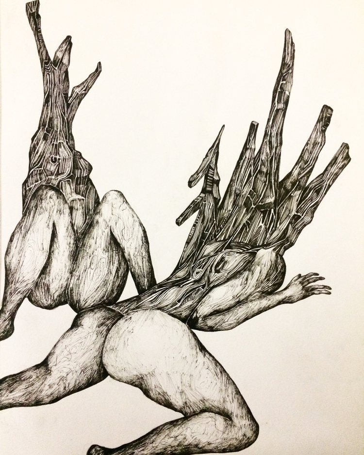 Title: Branching - pen, drawing - jacobbayneartist | ello