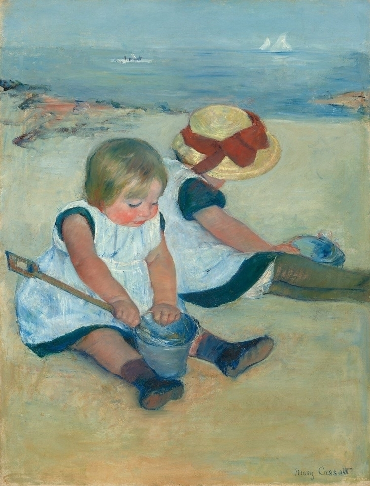 Children Playing Beach Mary Cas - bitfactory | ello
