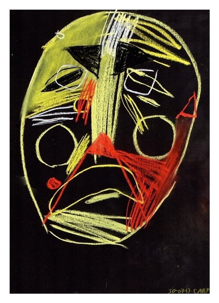 Weeping head. 297x210mm, 2013 - art - carpmatthew | ello