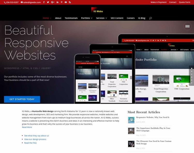 Huntsville Web Design SEO Servi - igwebs | ello