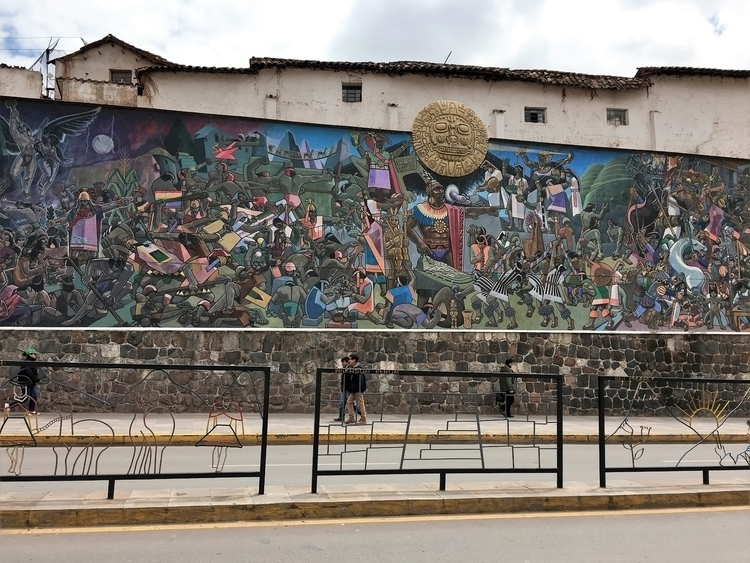 Peru, Cusco, Qosqo, mural, AvedelSol - hatun | ello