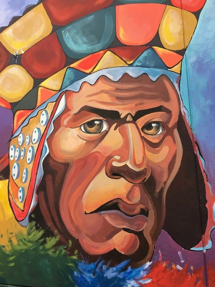 Peru, Cusco, mural, Quechua, andes - hatun | ello