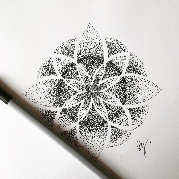 sketch, mandala, rainyday, dotstyle - dajanna | ello