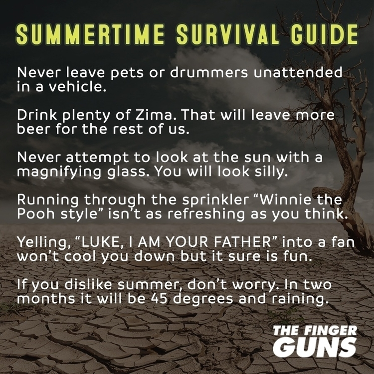 handy summer survival guide man - thefingerguns | ello
