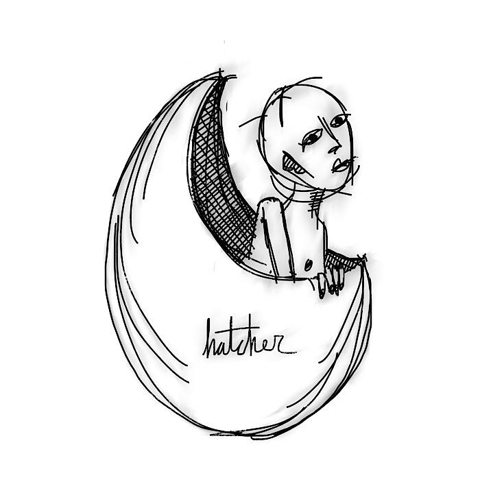 hatcher - born, letsgo, illustration - catswilleatyou | ello