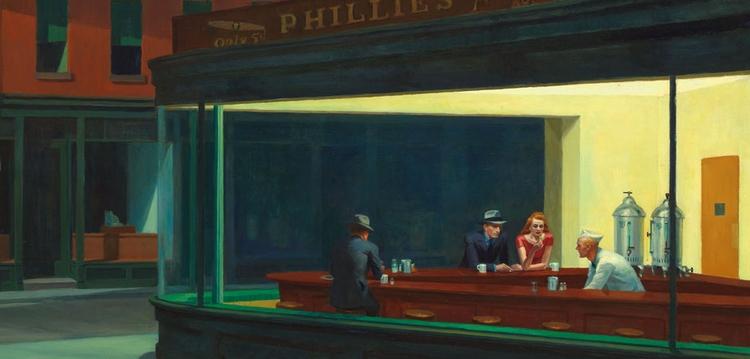 Nighthawks, 1942 Edward Hopper - leopercepied_ | ello