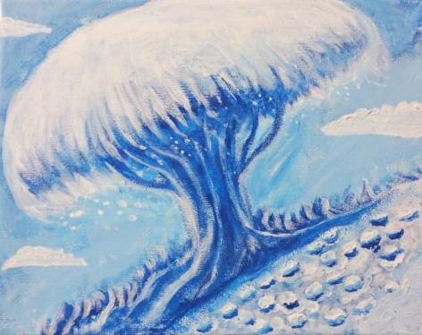 painting Netherworld Tree Blue - linedetail | ello