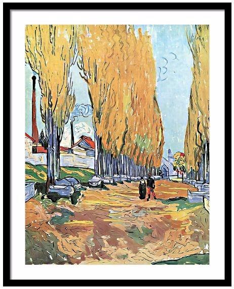 Vincent Van Gogh - Les Alyscamp - pixbreak | ello