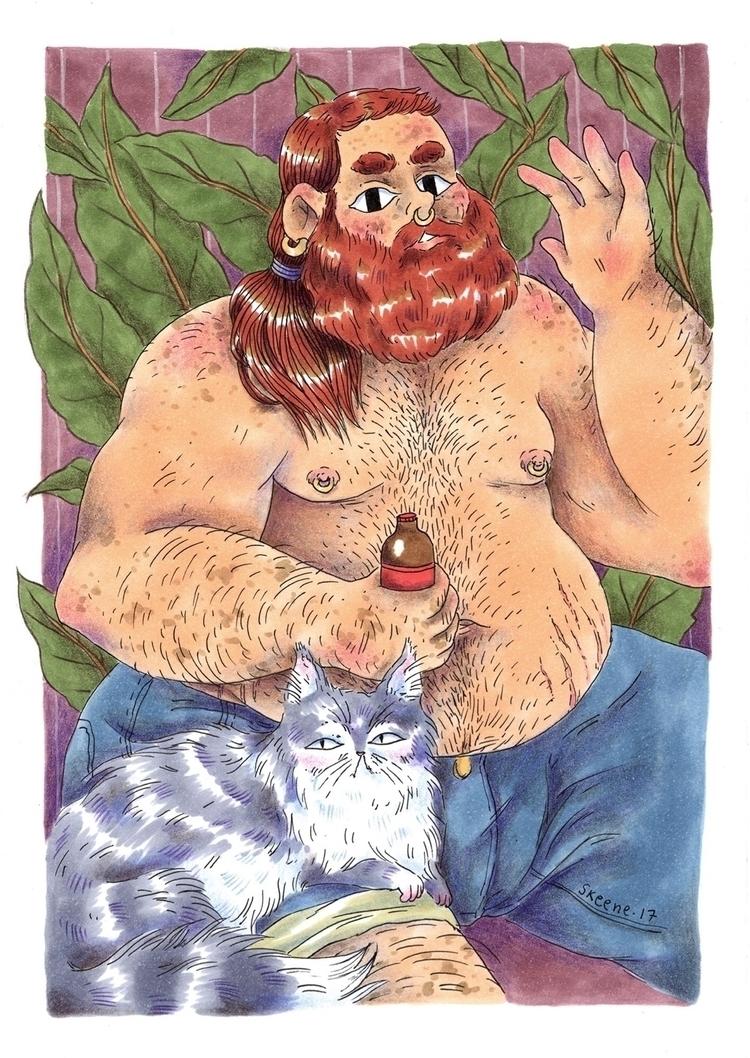augustadipose, bear, man, bearman - skeenep | ello