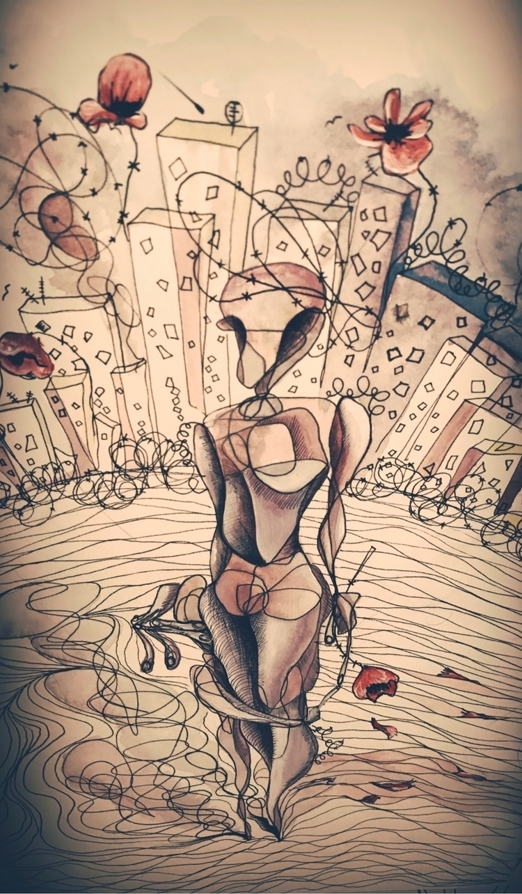 photograph - acrylic_painting, abstract_art - tammam   ello