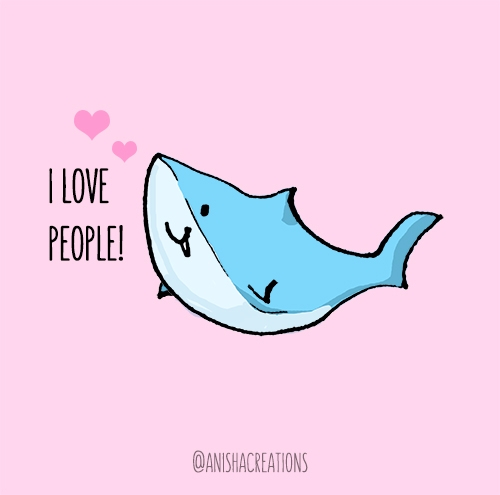 Unconditonal love - sharkweek, cute - anishacreations | ello