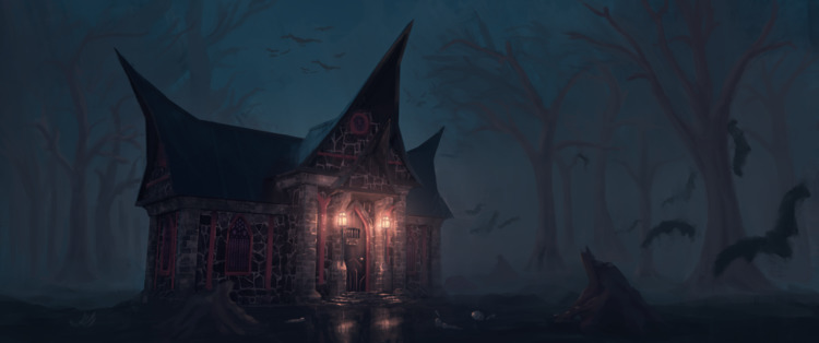 Vampire house design. Check Art - dannylaursen | ello