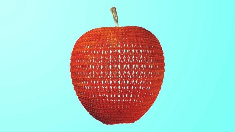 Apple knit - apple, knitting, 3d - danielmedina3d | ello