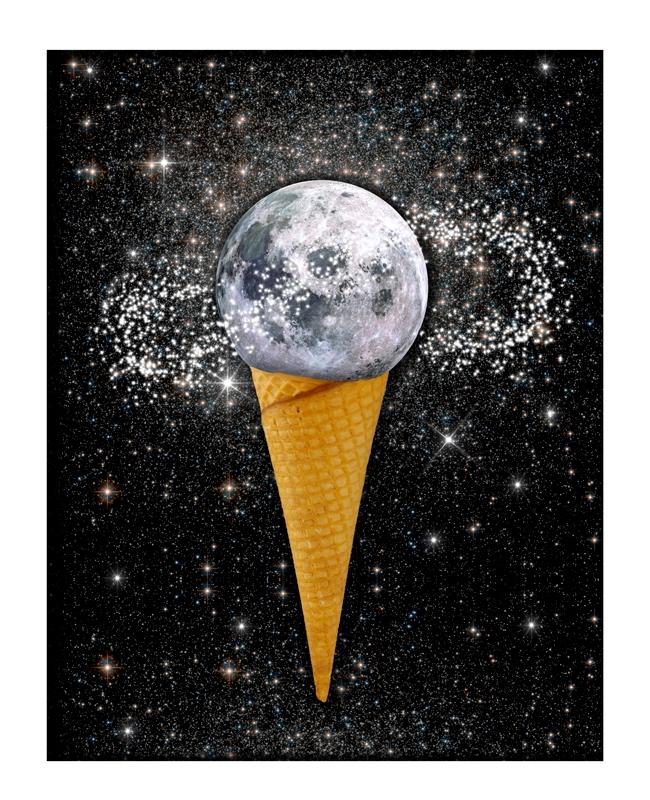 Sweet moon sky... (2017 - collageart - gloriasanchez | ello