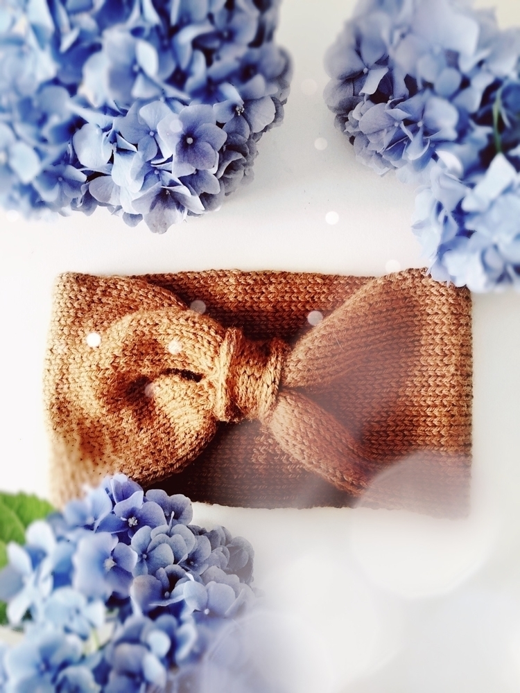 Knit ear warmer finished sweet  - crochetstorie | ello