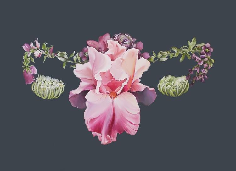 Floral Uterus, oil painting boa - trishathompsonadams | ello