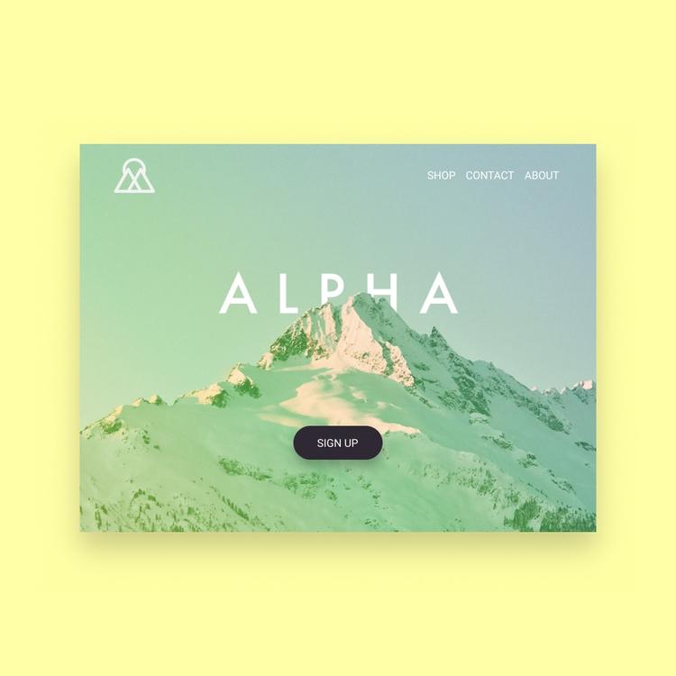 Daily UI Landing Page - 003, productdesign - dominikkalita   ello