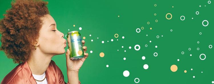 Aquafina Sparkling brand illust - lashun_tines | ello