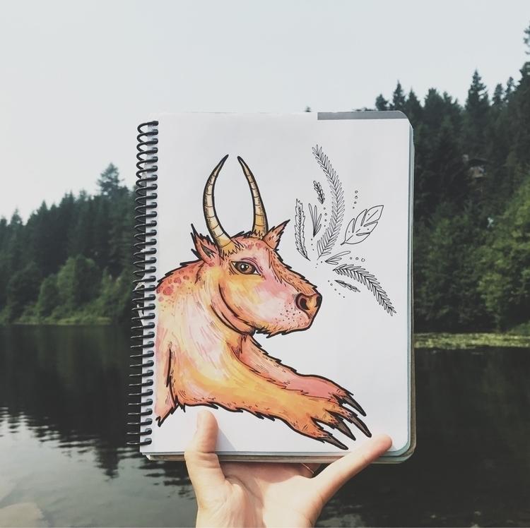 Dean.  - plants, wip, sketch, penandink - mikaelaelle | ello