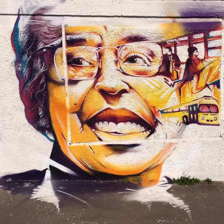 Rosa Parks - streetart, street, streetartist - philippefabry | ello
