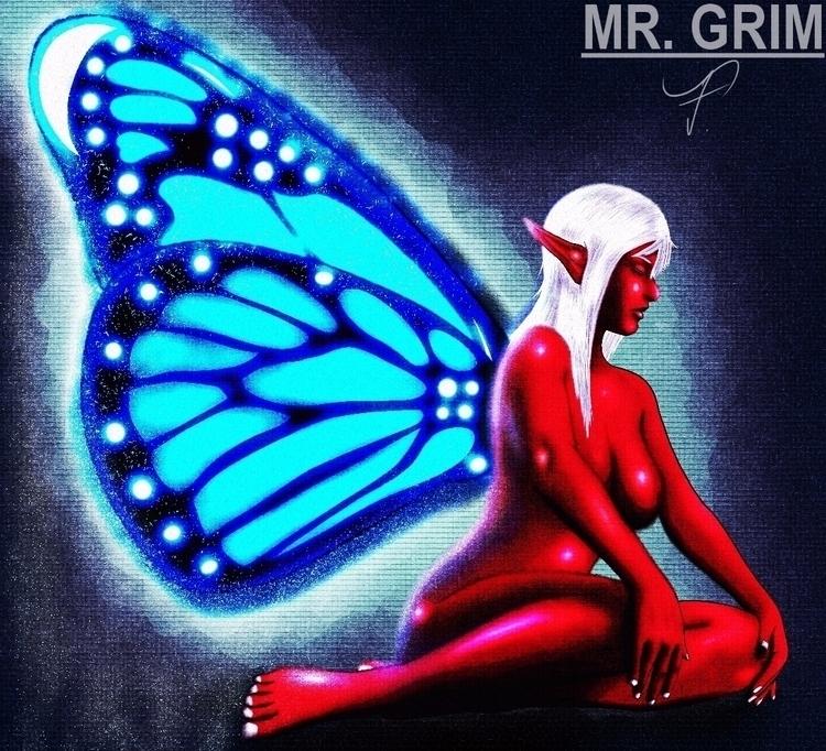 Red Fairy Timelapse Video:  - fairy - mistergrim23 | ello