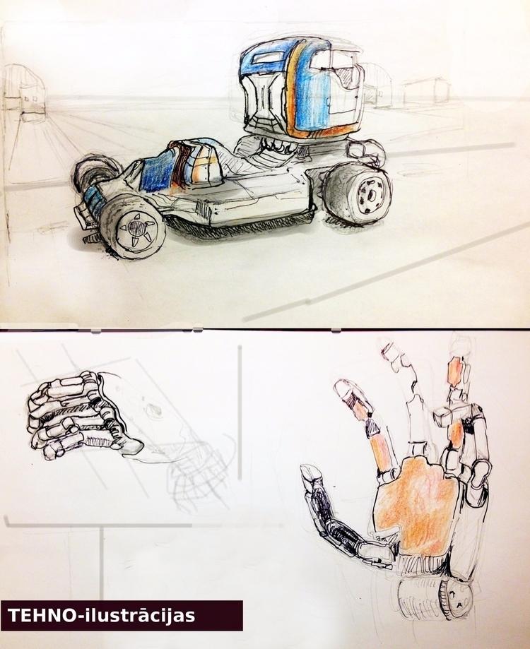 Techno-illustration 1 --- felt  - intars | ello