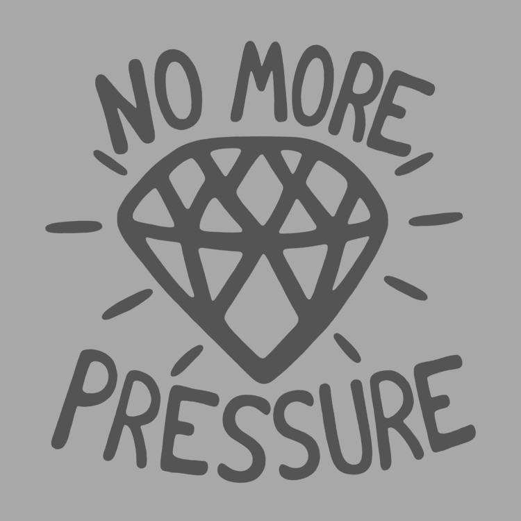 Diamonds pressure - typography, blingbling - angchor | ello