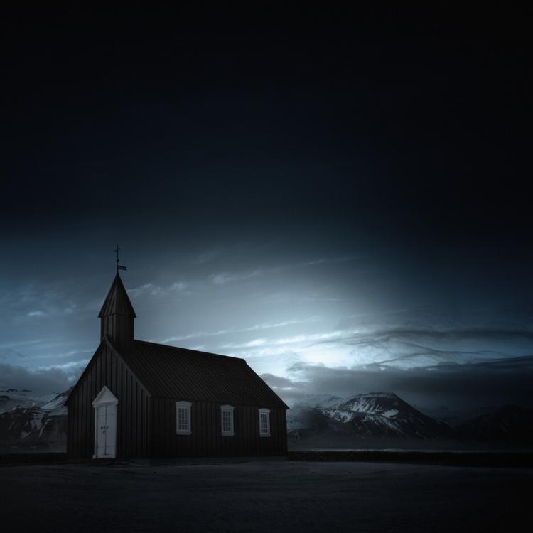> black church - infrared, iceland - andyleeuk | ello