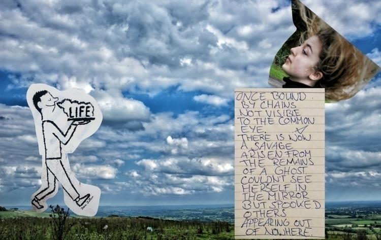 writing, vispo, collage - victoriainthewoods | ello