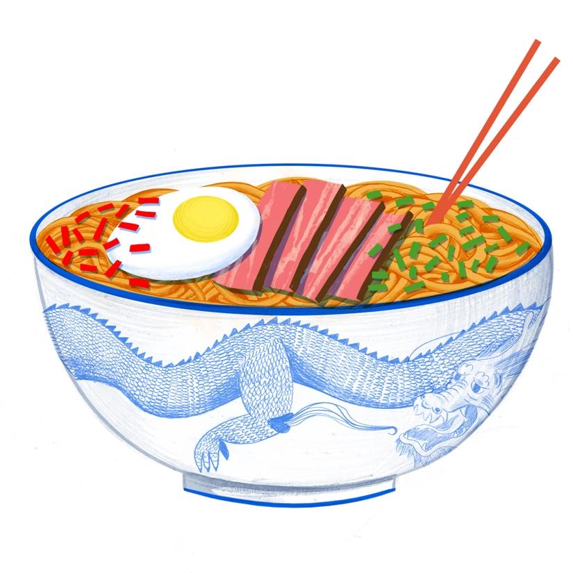 Ramen - illustration, ramen, food - mikedriver | ello